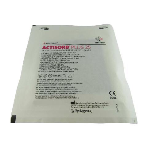 Curativo Carvão Ativado e Prata 6,5X9,5cm Actisorb Plus 25
