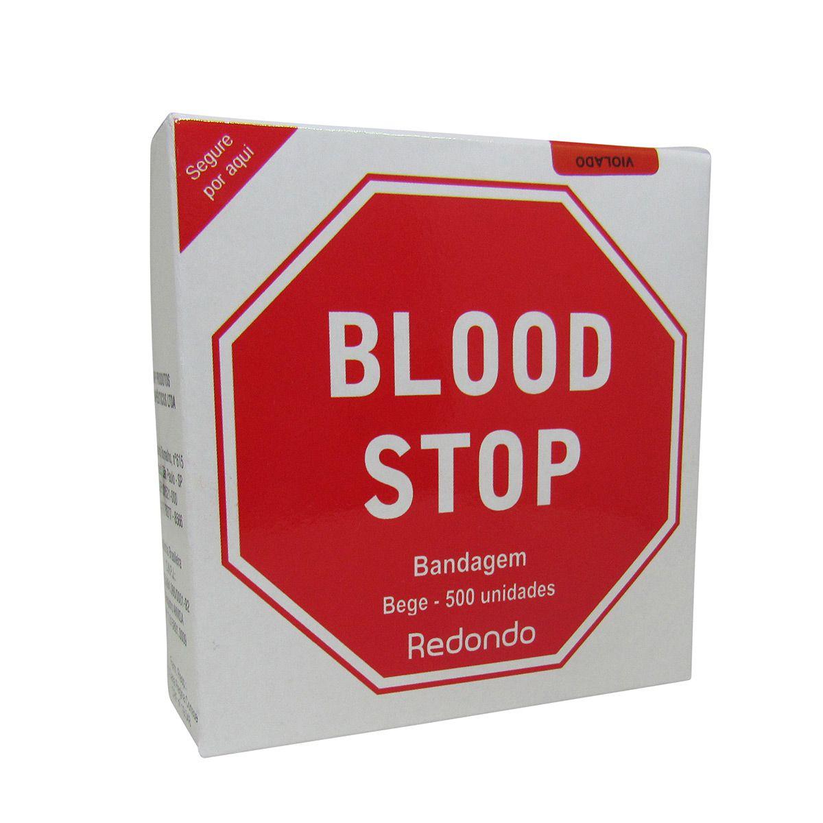 Curativo Estancamento Sangue Bege 500un Blood Stop 5cx