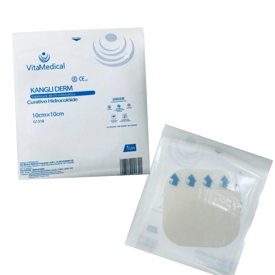 Curativo Hidrocolóide Placa 10x10cm Vitamedical Kit 5un