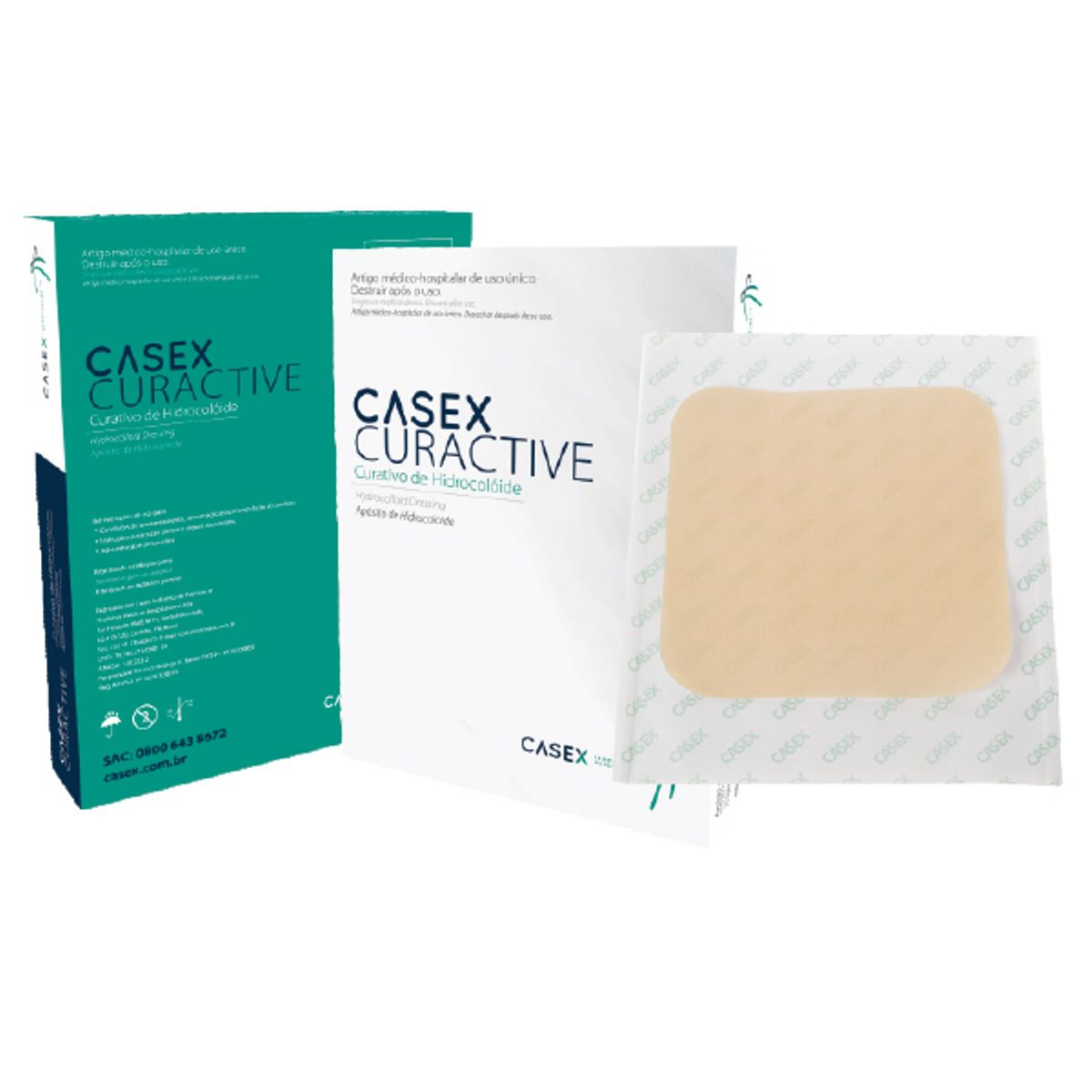 Curativo Hidrocolóide Placa 20x20cm Regular Casex Kit 5 placas