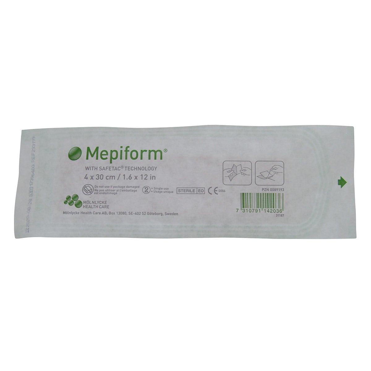 Curativo Mepiform 4x30cm Silicone Molnlycke