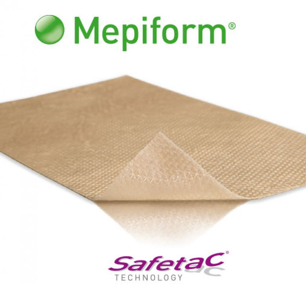 Curativo Mepiform 5x7,5cm Silicone Molnlycke
