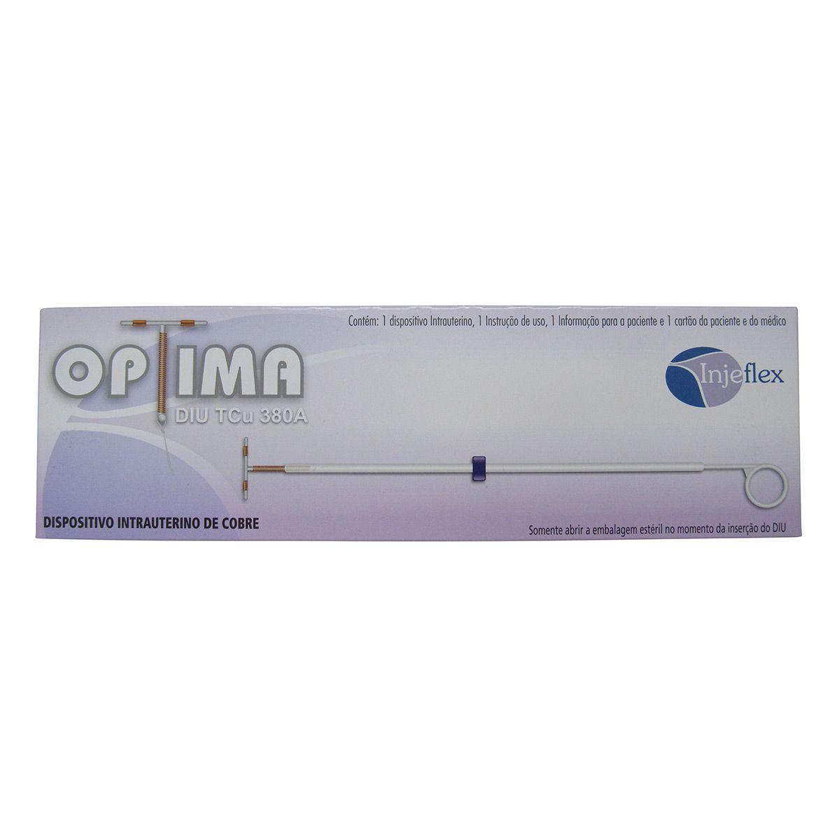 Diu Optima TCu 380A Intrauterino de Cobre Injeflex