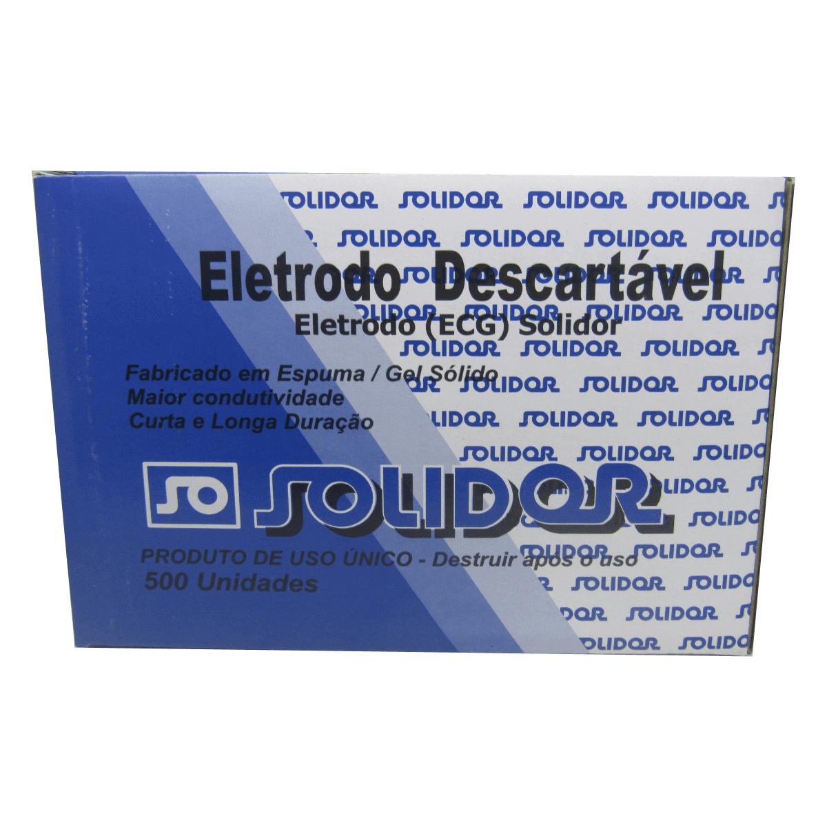 Eletrodo Descartável Eletrocardiograma ECG 500un Solidor