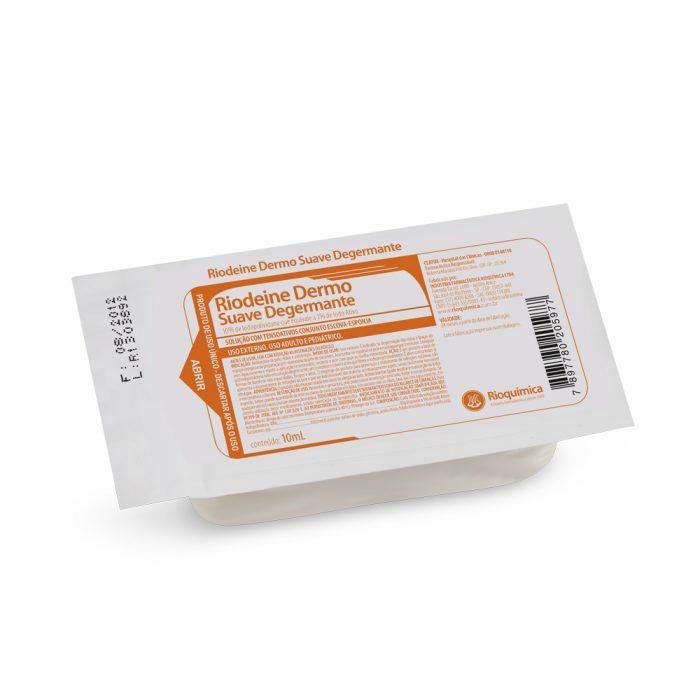 Escova com PVPI Degermante Riodeine10ml Rioquímica Kit 20un