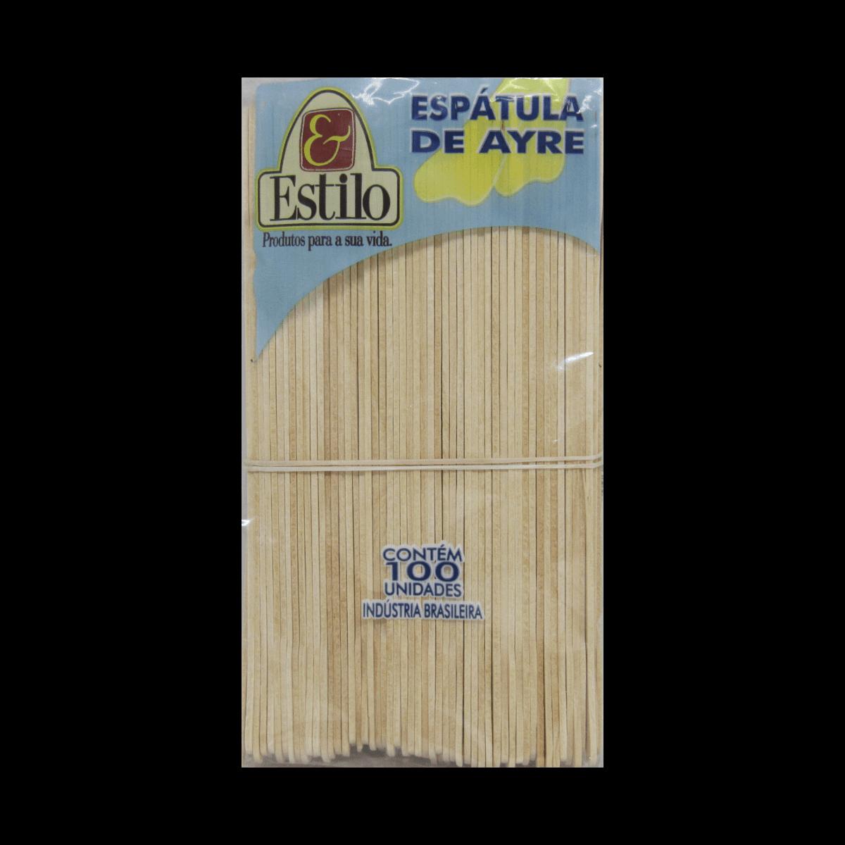 Espátulas de Ayre Madeira com 100un Estilo