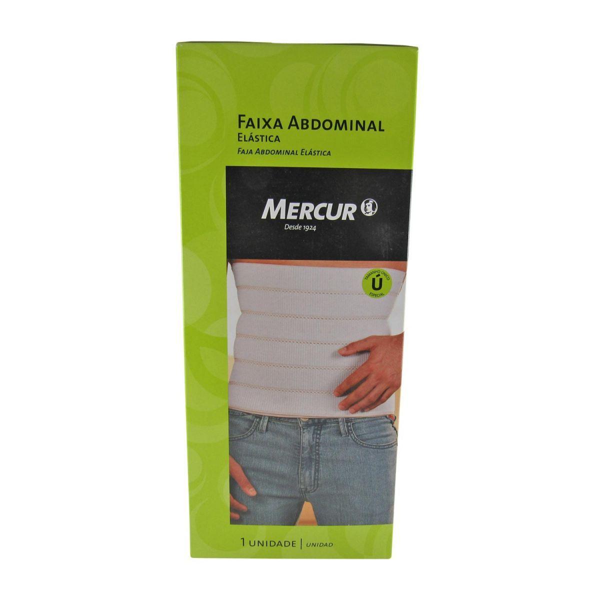 Faixa Abdominal Elástica 30cmx1,4m Especial Mercur