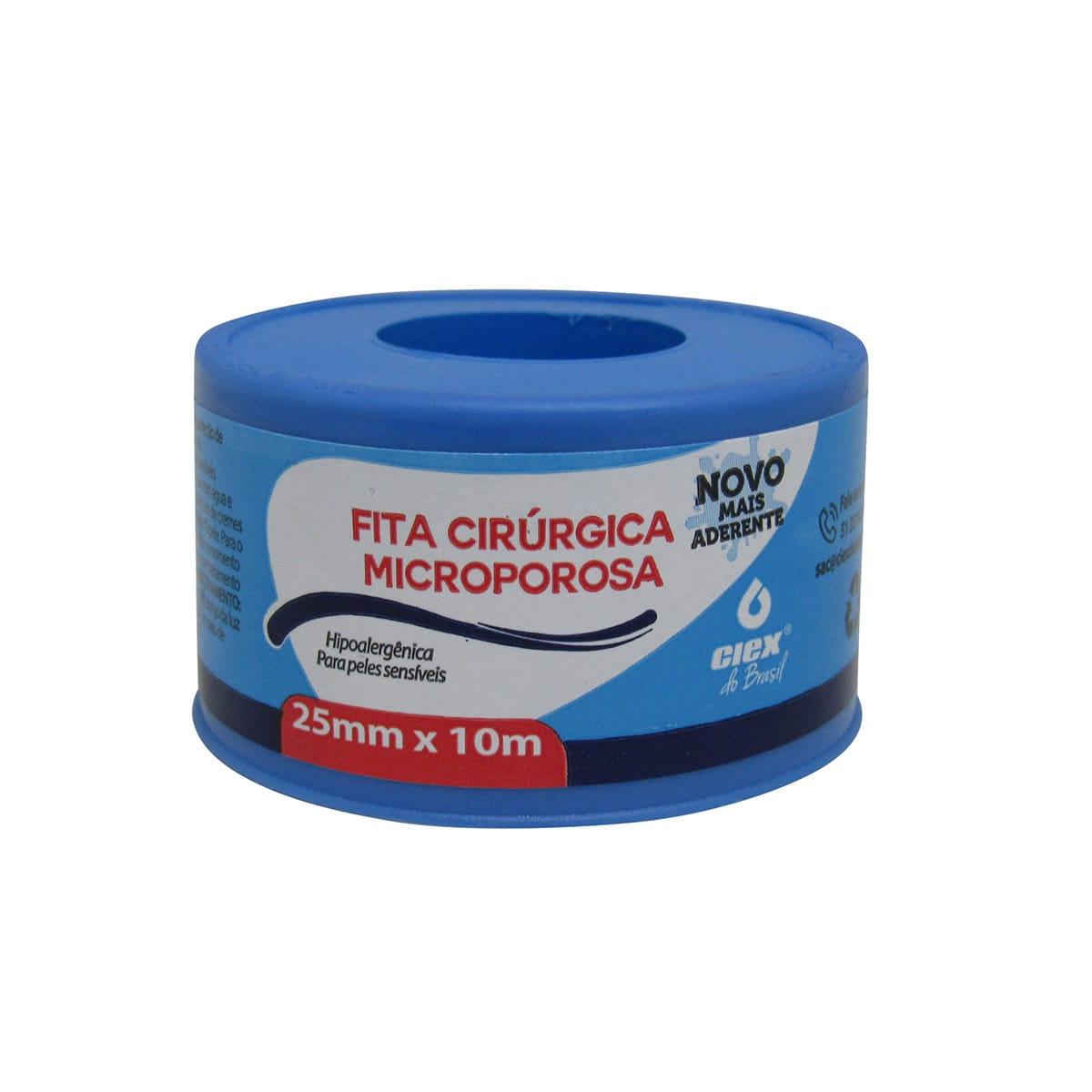 Fita Microporosa Hipoalergênica 25mm x 10m Ciex Kit 10 un