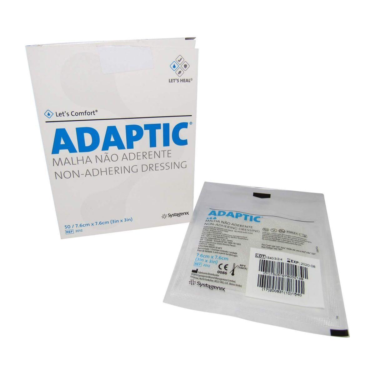 Adaptic 7,6 x 7,6cm Curativo cx com 10 Unidades