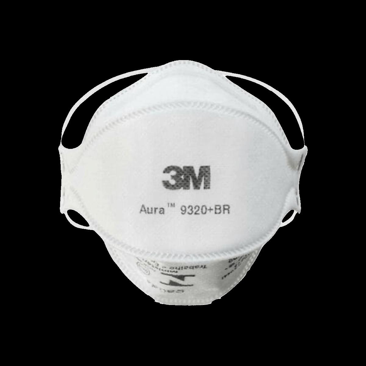 Máscara Proteção Respirador Aura Pff2S 9320 + BR 3M
