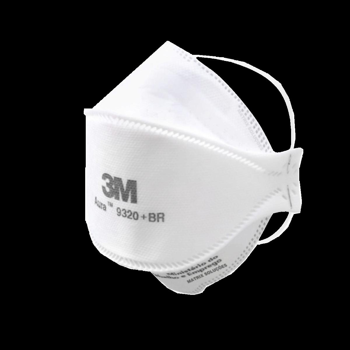 Máscara Proteção Respirador Aura Pff2S 9320 + BR 3M Kit 10 un