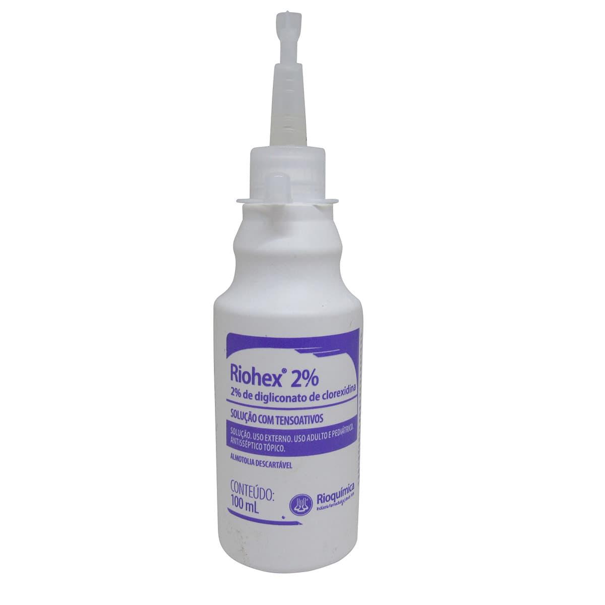 Riohex Clorexidina 2% Degermante 100ml Rioquímica