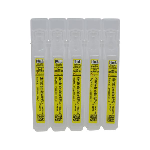 Soro Fisiológico Cloreto de Sódio 0,9% 10ml Equiplex Kit 400 un