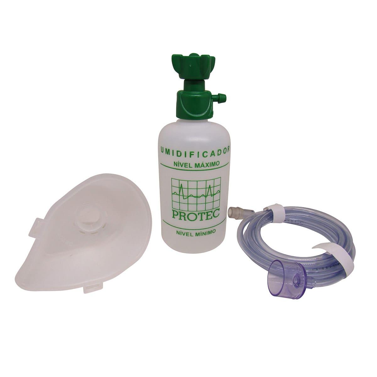 Umidificador de Oxigênio Extensão e Máscara Adulto Protec