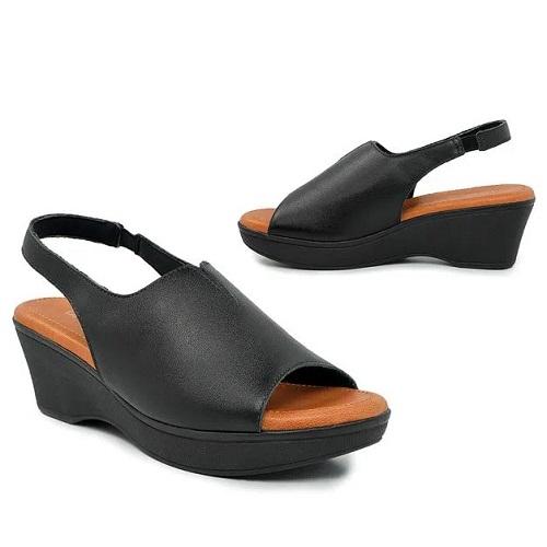 Sandália Plataforma Anabela Usaflex Ad2406