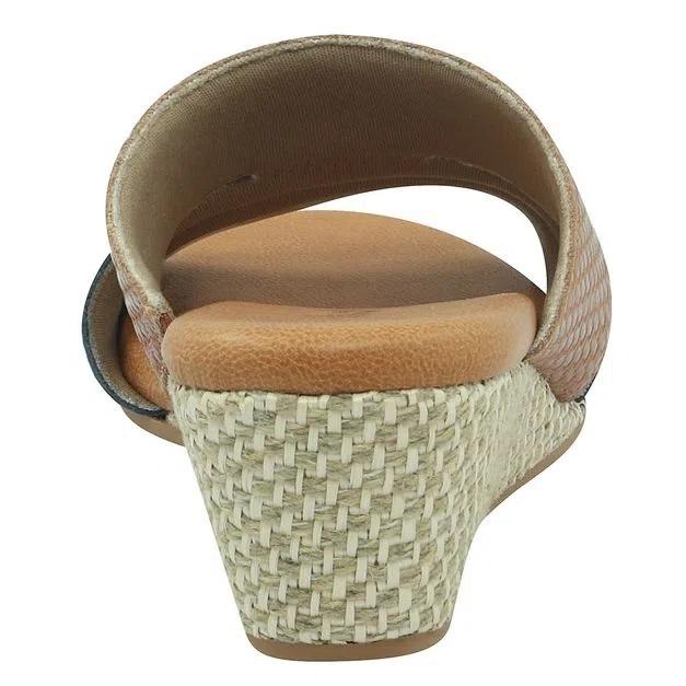 Tamanco Usaflex Ad0803 Feminino Confortável Couro