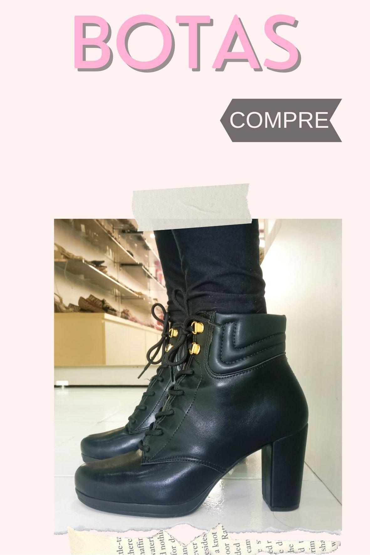 botas  fashion e confortáveis