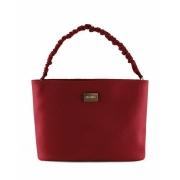 Bolsa tote bag scrunchie vermelho Via Uno
