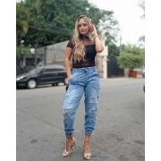 Calça Jogger Jeans Tamyres