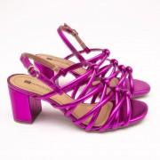 Sandália Amy Metalizado Pink