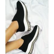 Tênis ultraconforto Modare feminino knit esportivo preto