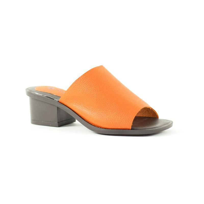 Tamanco Mule Comfy Rebeca Floater Tangerina