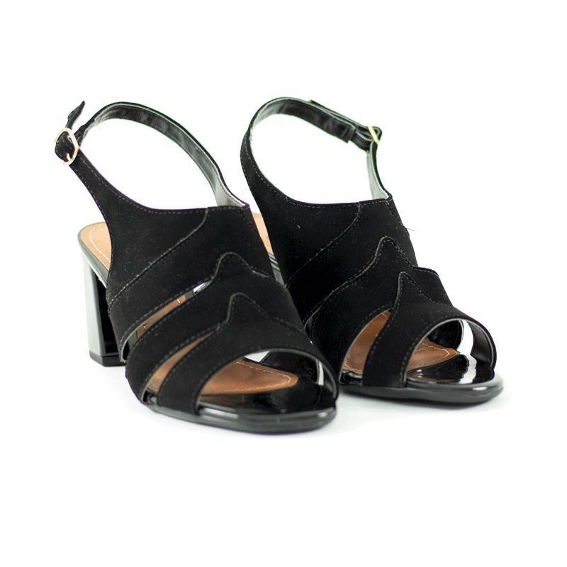 Sandália Ankle Bia Nobuck Preta