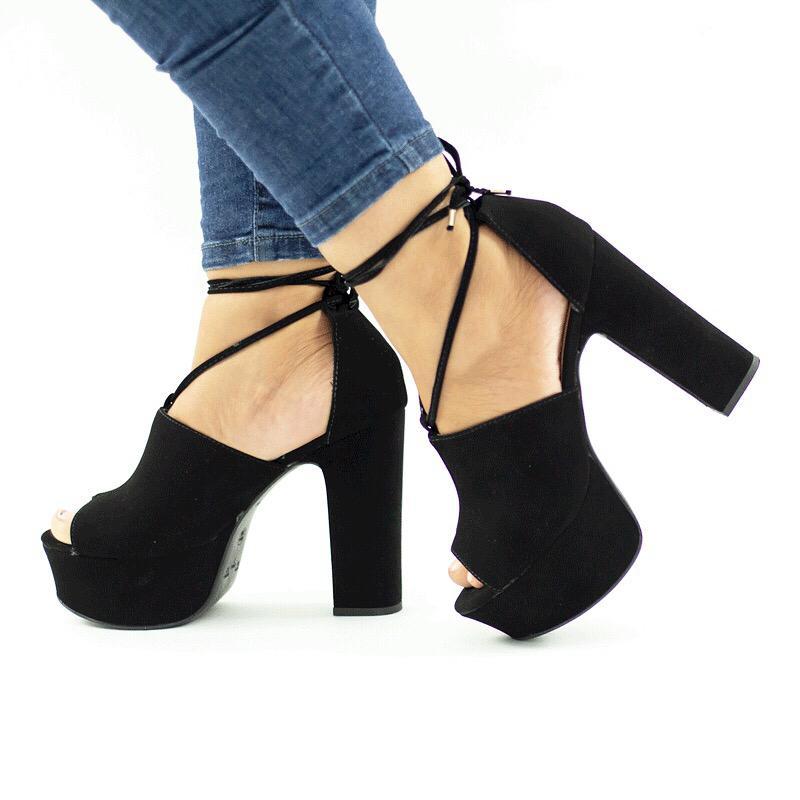 Sandália Ankle Nath Nobuck Preta