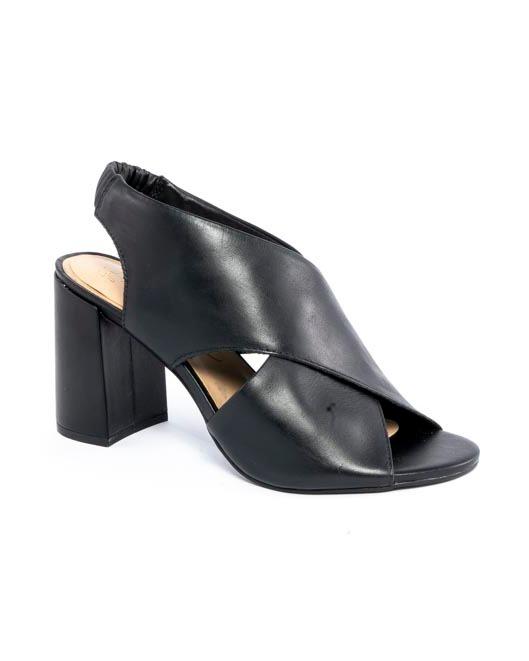Sandália Ankle Tiras trançadas Napa preto