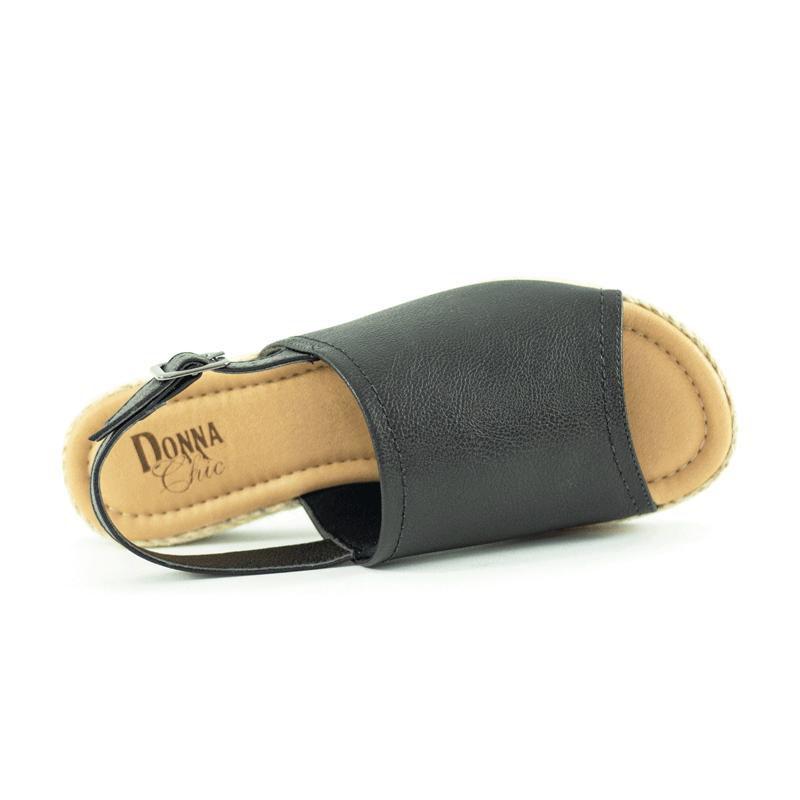 Sandália Confort Napa Preto