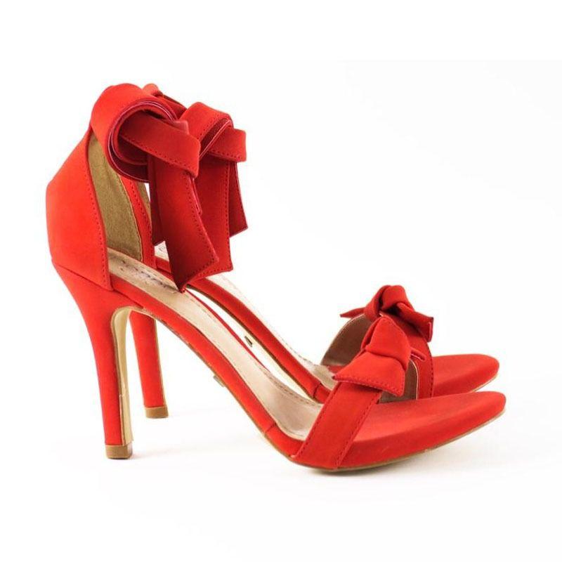 Sandália Gisele Laço Vermelha