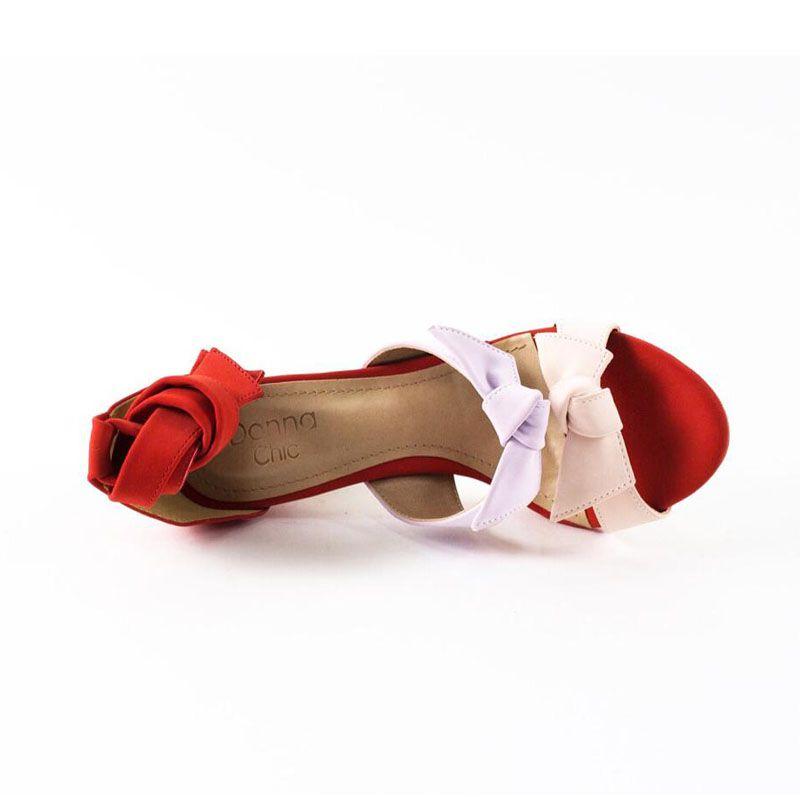 Sandália Marina Laço Vermelha