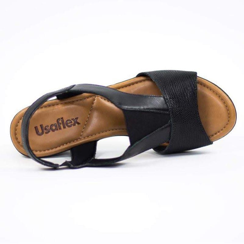 Sandália Usaflex Com Detalhe de Elástico  Z8105