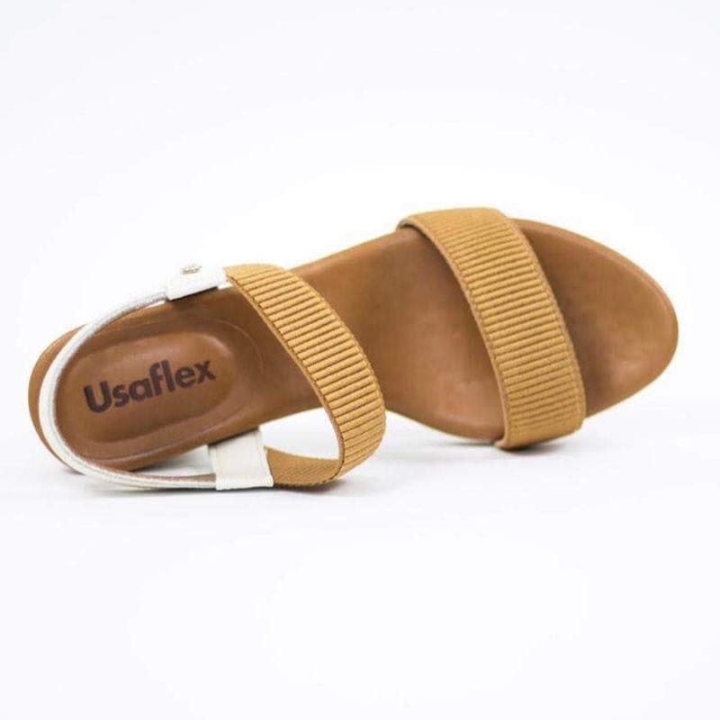 Sandália Usaflex Com  Elastico Canelado Y8204