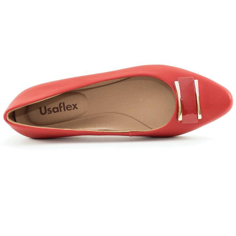 Sapatilha Usaflex Vermelha AB6209