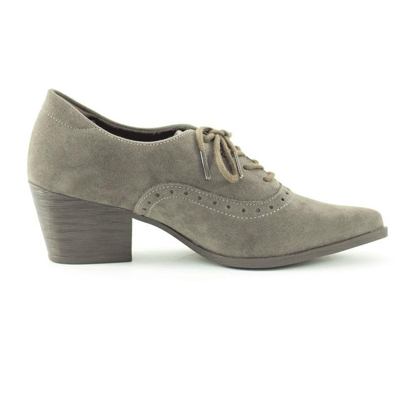 Sapato Oxford  Isis Camurção Cinza