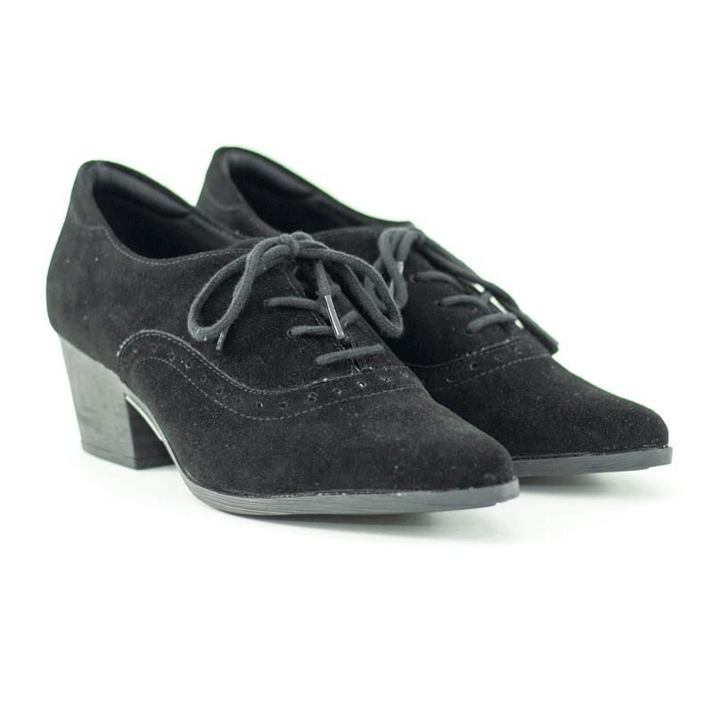 Sapato Oxford  Isis Camurção Preto