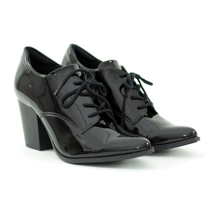 Sapato Oxford Liz Verniz Preto