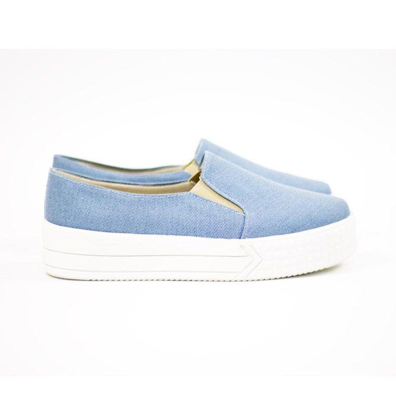 Slip On Ana Clara Azul Jeans