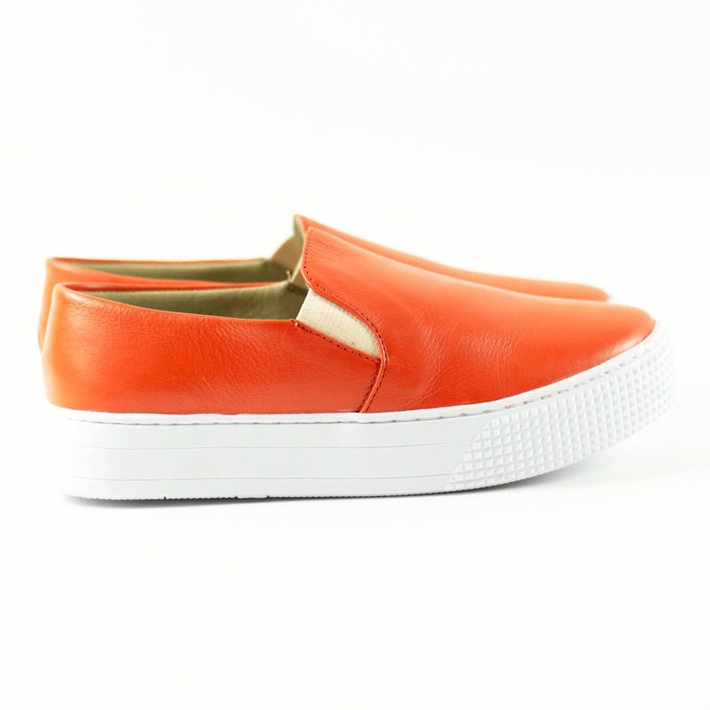 Slip On Layla Couro Coral
