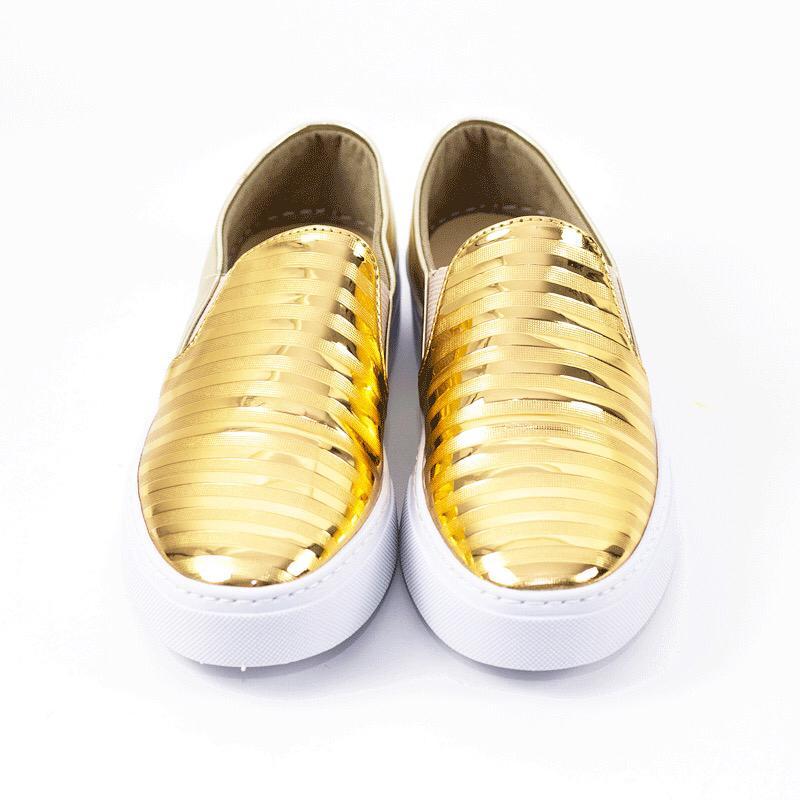 Slip ON Vania Spechio Ouro