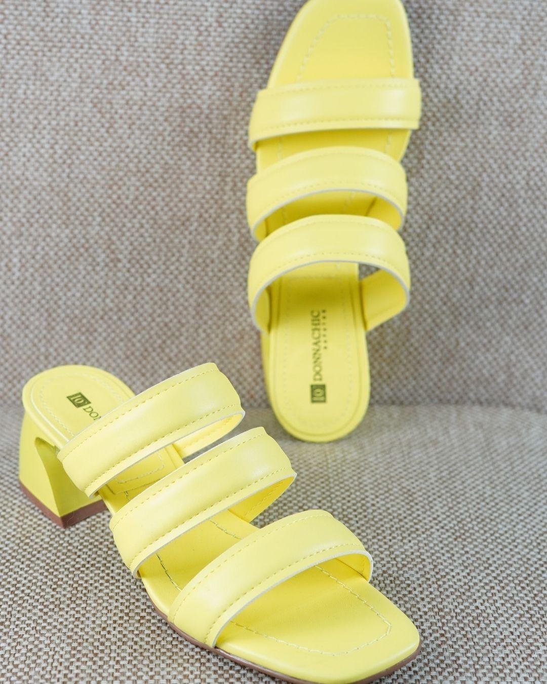 Tamanco Gil Amarelo Solar Salto Bloco