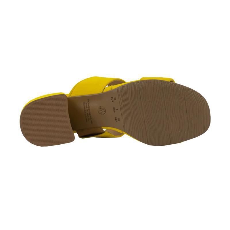 Tamanco Melissa Nobuck amarelo salto bloco