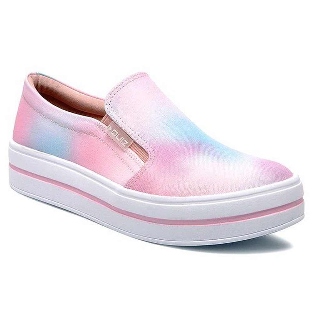 Tênis Tie Dye Quiz Slip-On Flatform Multi