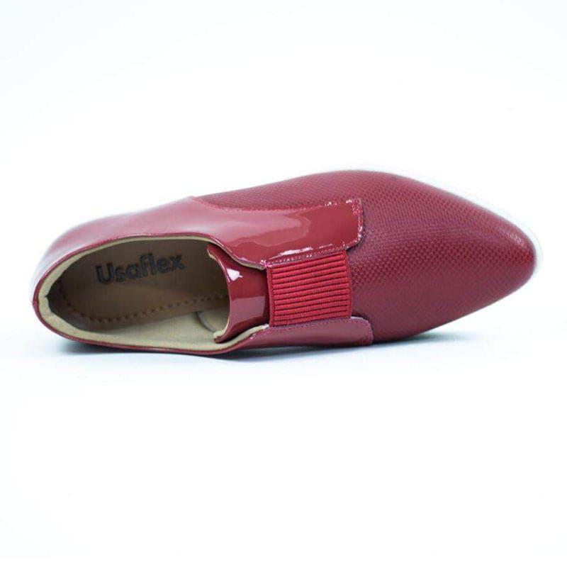 Tênis Usaflex Aa1410 Vermelho Rebu