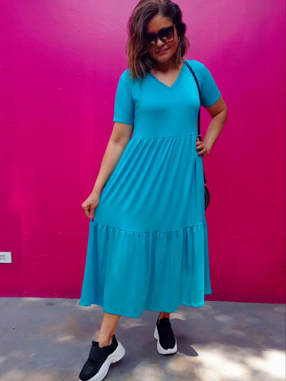Vestido Comfy Norah turquesa