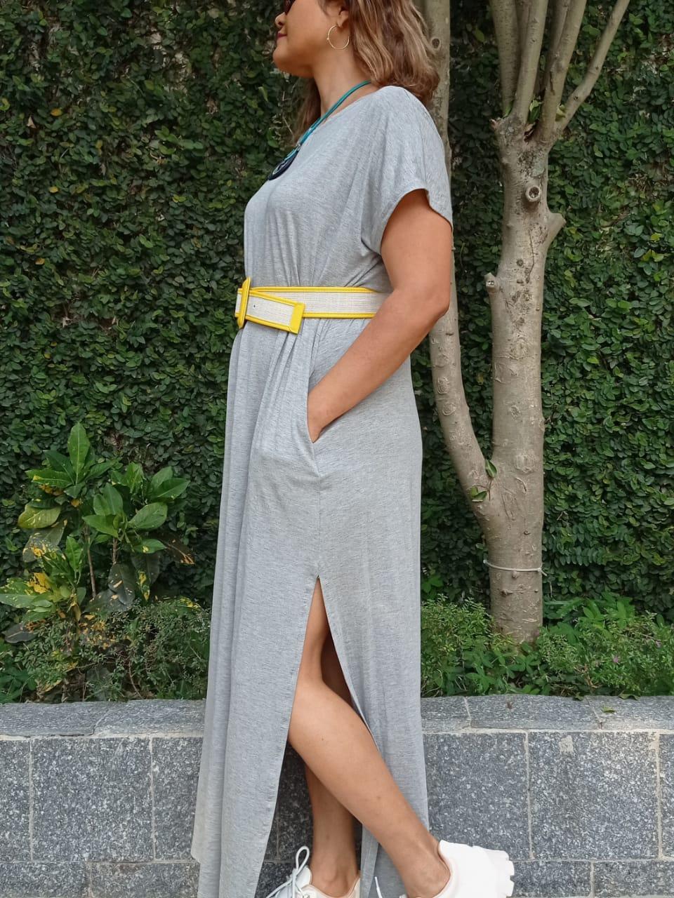 Vestido Malha Comfy Mescla Roma