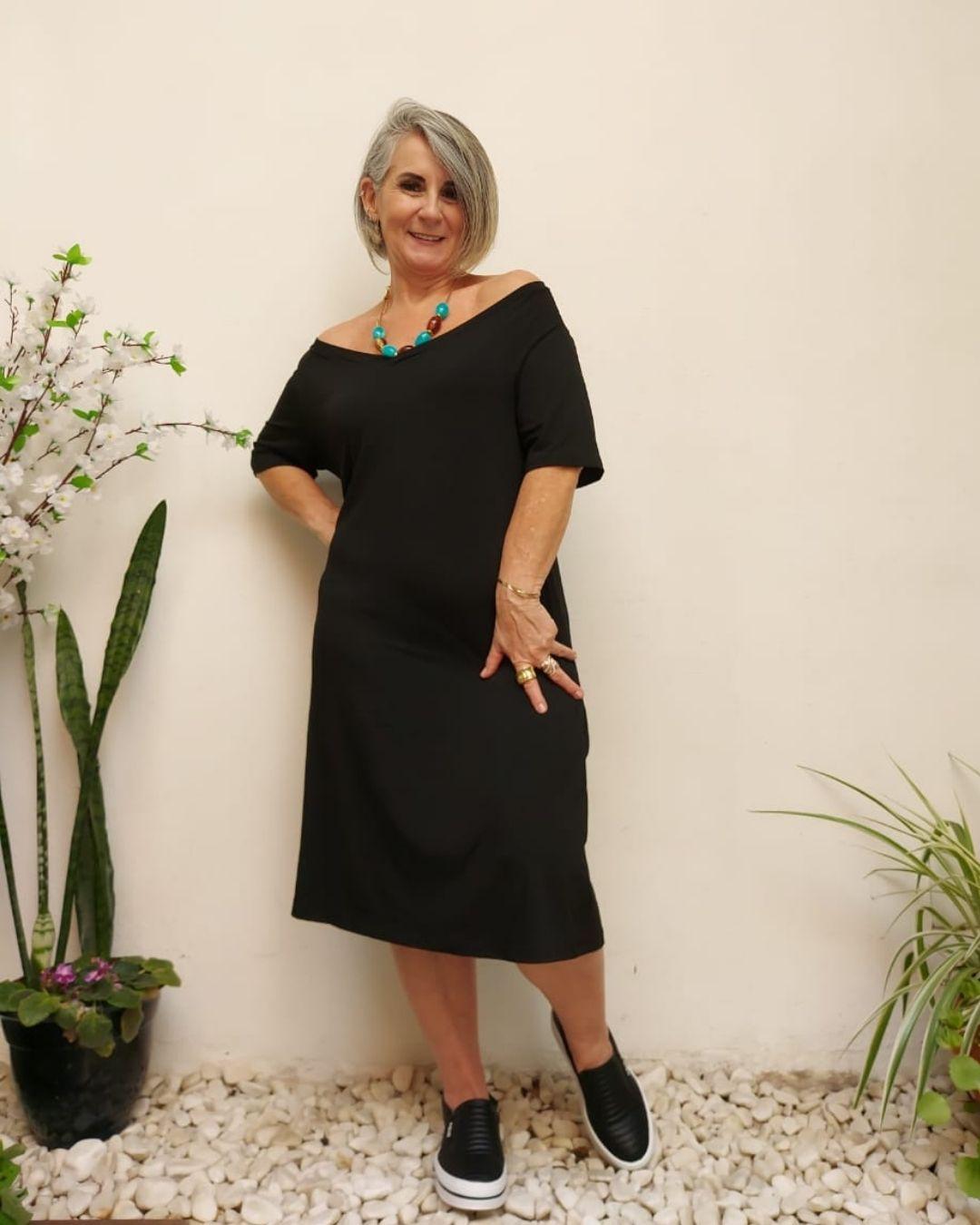 Vestido Midi Malha Vania Preto