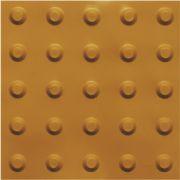 piso tátil em pvc 16pçs ou 1m² alerta ouro