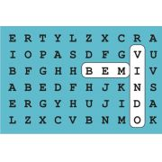 tapete divertido palavra chave 0,60m x 0,40m cod 0042